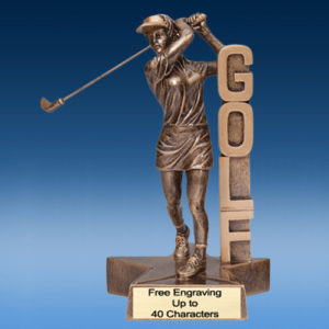 Golf Female Billboard Resin