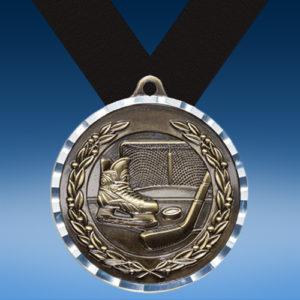 Hockey Diamond Cut Medal-0