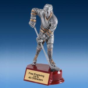 Hockey Female Silver/Gold Tone Resin