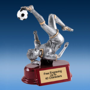 Soccer Female Silver/Gold Tone Resin