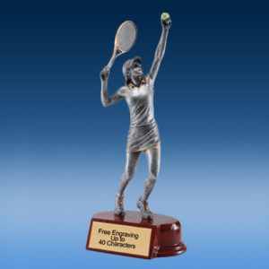Tennis Female Silver/Gold Tone Resin