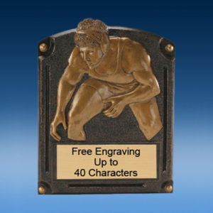 Wrestling Bronzed Legend Resin