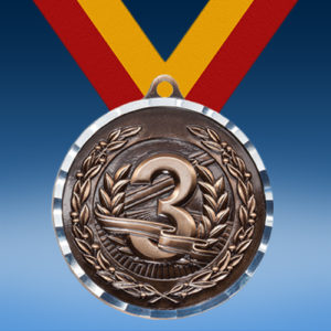 3rd Place Relief Diamond Cut Medal-0