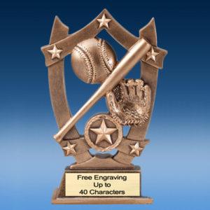 Baseball Star Shield Resin
