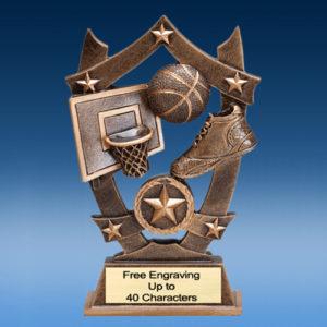 Basketball Star Shield Resin