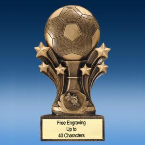 Soccer Bursting Star Resin
