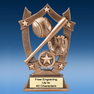 Softball Star Shield Resin