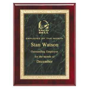 Rosewood Classic Series Plaque Green