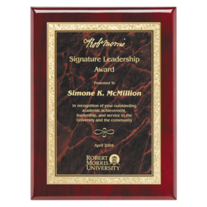Rosewood Classic Series Plaque Red