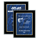 Blue Acrylic Marble Plaques