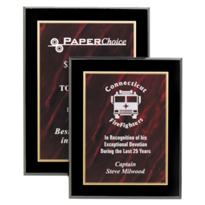 Red Acrylic Marble Plaques