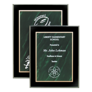 Green Acrylic Marble Plaques