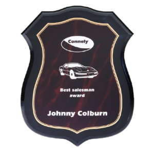 Red Acrylic Shield Plaques