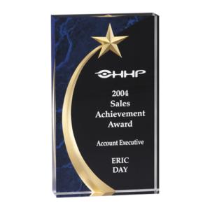 Blue Shooting Star Acrylic Award