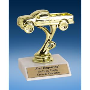 """4x4 Pickup Truck Sport Figure Trophy 6"""""""