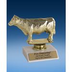 "Angus Cow Sport Figure Trophy 6"""