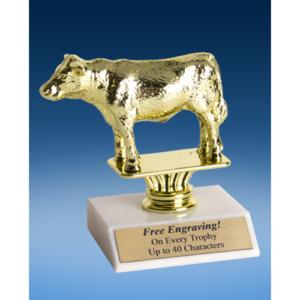 """Angus Steer Sport Figure Trophy 6"""""""
