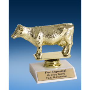 Dairy Cow Sport Figure Trophy 6""