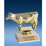"Dairy Cow Sport Figure Trophy 6"""