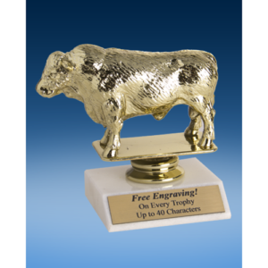 Hereford Bull Sport Figure Trophy 6""