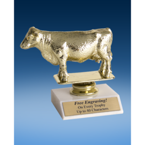 Hereford Cow Sport Figure Trophy 6""