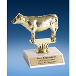 Hereford Steer Sport Figure Trophy 6""