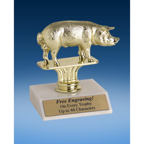 "Pig Sport Figure Trophy 6"""