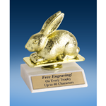 Rabbit Sport Figure Trophy 6""