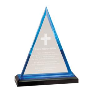 Blue Impress Premier Acrylic Award