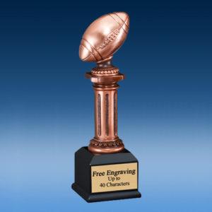 Football Bronzed Tower Sculpture