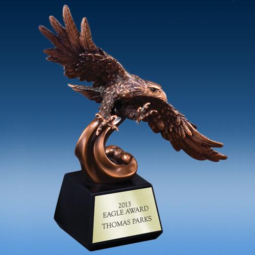 In Flight Bronze Eagle
