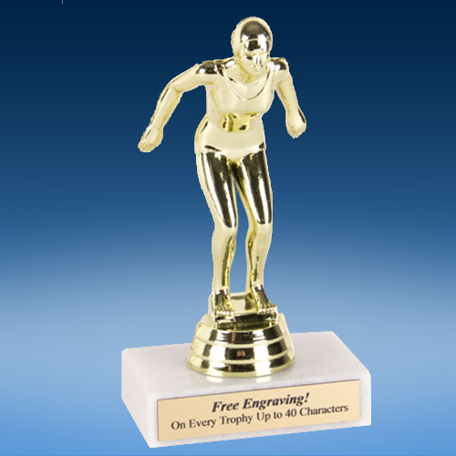"Swimming Female Econoline Trophy 6""-0"
