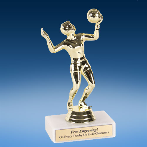 "Volleyball Female Econoline Trophy 6""-0"