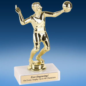 "Volleyball Male Econoline Trophy 6""-0"