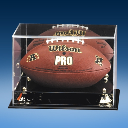 Football Mirrored Display Case