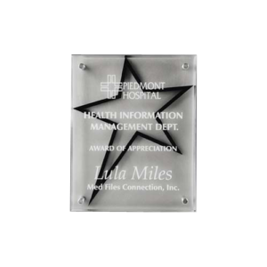 Star Stand Off Plaque
