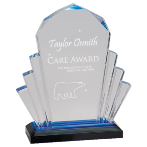 Blue Faceted Impress Award