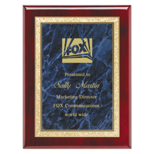 Rosewood Classic Series Plaque Blue