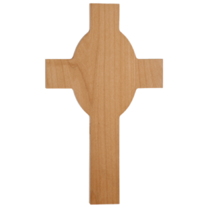 Red Alder Cross Plaque