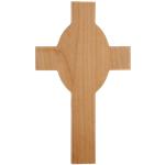 Red Alder Cross Plaque