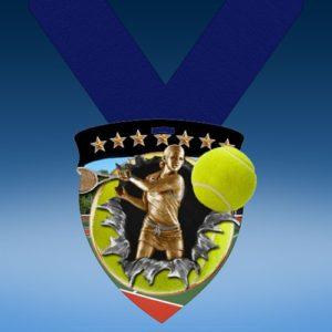 Tennis Female Full Color Burst Medallions