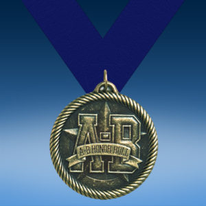 A-B Honor Roll Academic Wrapped Medal-0
