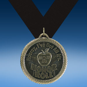 """""""Apple"""" A Honor Roll Academic Wrapped Medal-0"""