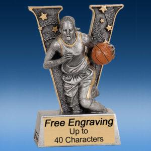 """Basketball Female """"V"""" Series Resin Award-0"""