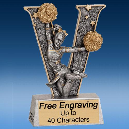 "Cheerleading ""V"" Series Resin Award-0"