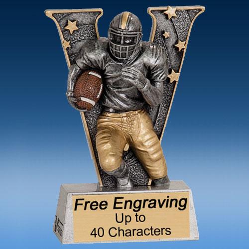 """Football """"V"""" Series Resin Award-0"""