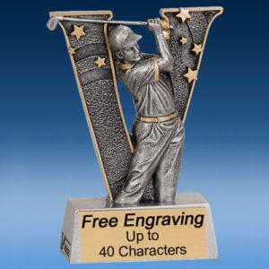 """Golf Male """"V"""" Series Resin Award-0"""