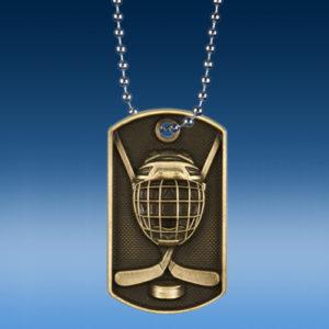 Hockey 3D Dogtag Medal-0
