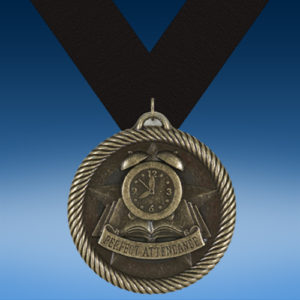 Perfect Attendance Academic Wrapped Medal