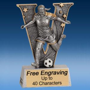 """Soccer Female """"V"""" Series Resin Award-0"""
